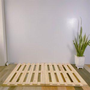 giường pallet gỗ thông gấp gọn
